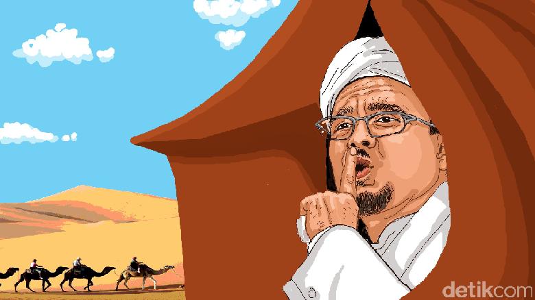 Polisi Sudah Periksa Habib Rizieq di Arab Saudi