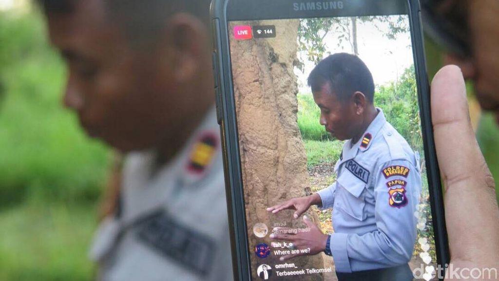 Alhamdulillah! Bisa Live IG Stories di Perbatasan RI-PNG