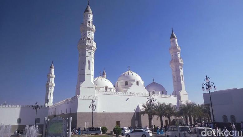 Foto: Masjid Quba di Madinah (Fitraya/detikTravel)
