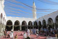 Suasana di dalam Masjid Quba (Fitraya/detikTravel)