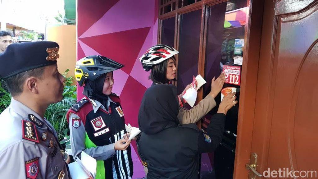 Bersepatu Roda, Satpoltik dan Srikandi Polrestabes Sosialisasi 112