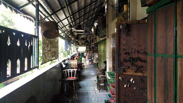 Lorong-lorong di Pasar Triwindu (Wahyu/detikTravel)