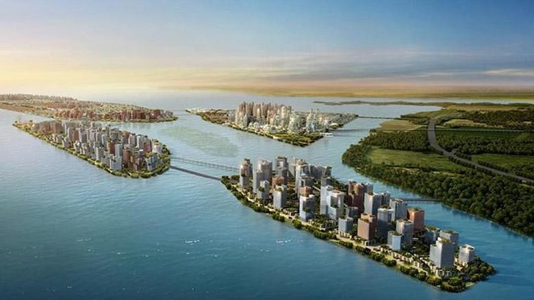 China Bangun Kota Raksasa di 4 pulau di Malaysia