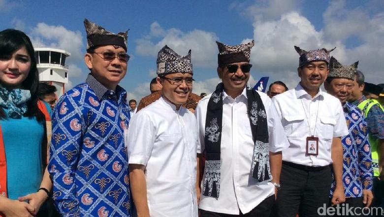 Foto: Peresmian pembukaan direct flight Jakarta-Banyuwangi (Ardian/detikTravel)