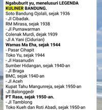Contoh share Legenda Kuliner Bandung di Whatsapp (Screenshoot Whatsapp)