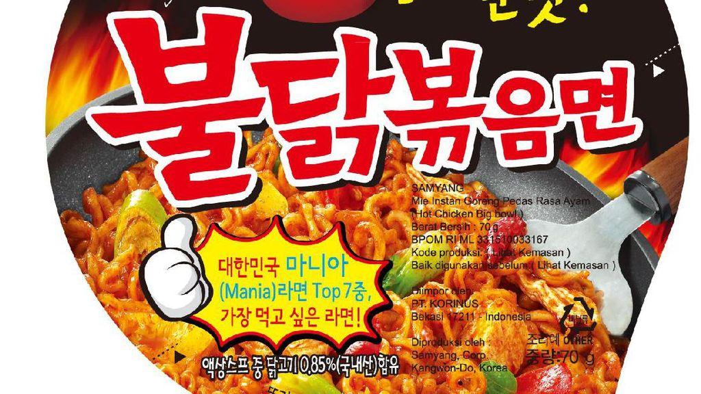 Mie Samyang Cs Diimpor dari China dan Korea