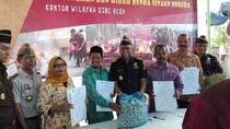 60 Ton Bawang Ilegal Hasil Sitaan Dibagikan untuk Masyarakat Aceh