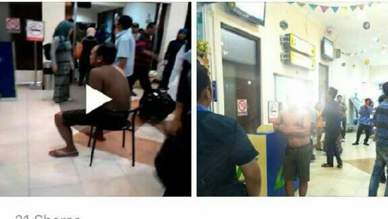 Dihukum Buka Baju di Bandara Yogya, Sopir Online F akan Lapor Polisi
