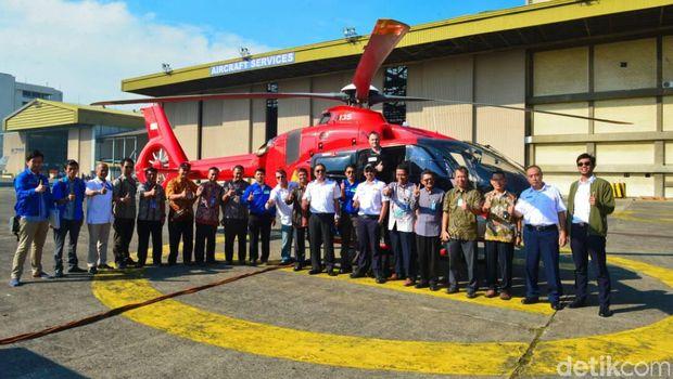 PTDI Kirim Helikopter H135 Pemantau Mudik Lebaran