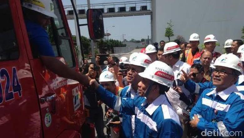 Jelang Lebaran, Wamen ESDM Cek Stok BBM di Medan