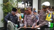 Ribuan Miras dan Knalpot Brong Dimusnahkan Polisi Trenggalek