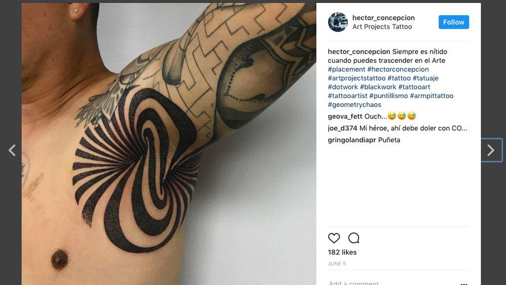 Ngetren di Instagram, Rela Menahan Sakit demi Tato di Ketiak