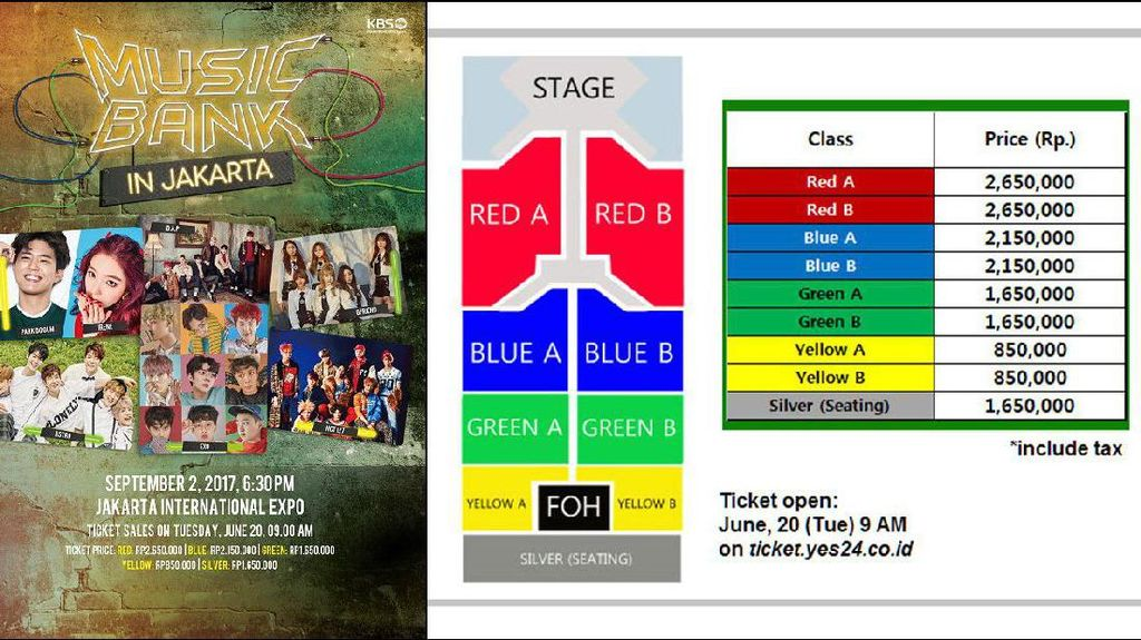Siap-siap! Tiket Music Bank in Jakarta Dijual Mulai Hari Ini