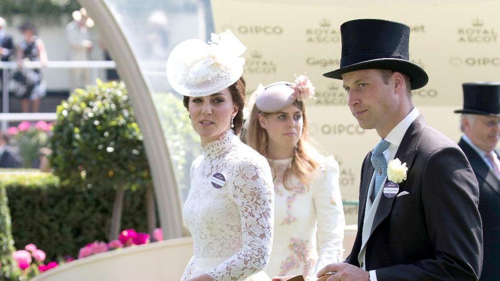 Cantiknya Kate Middleton Bergaun Lace di Pertandingan Kuda Royal Ascot