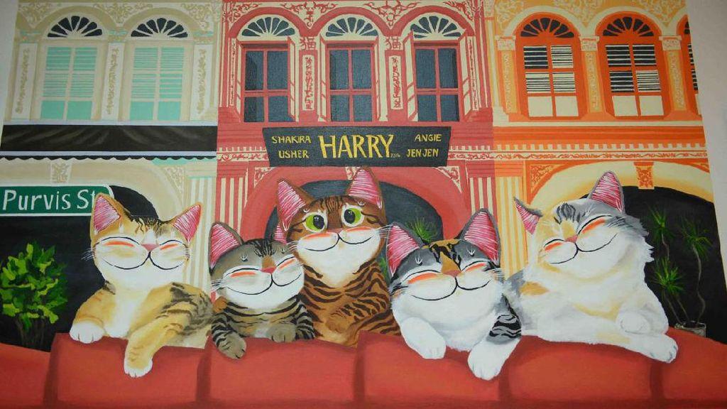 Kucing-kucing Lucu di Museum Kucing Singapura