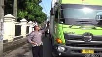 Puluhan Truk Barang Terjaring Razia di Jalur Mudik Tasikmalaya