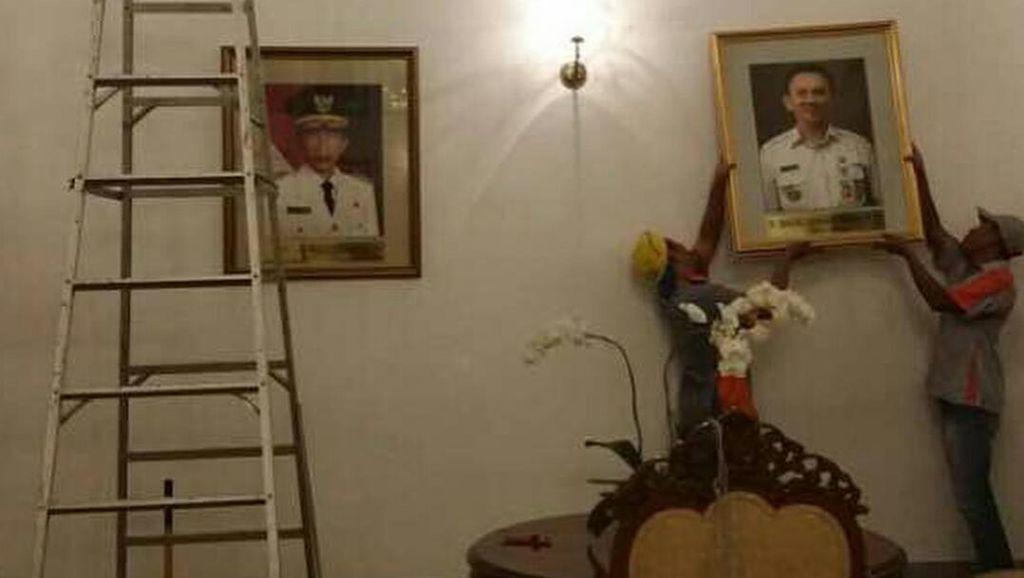 Foto Ahok Sudah Terpasang di Jajaran Mantan Gubernur DKI