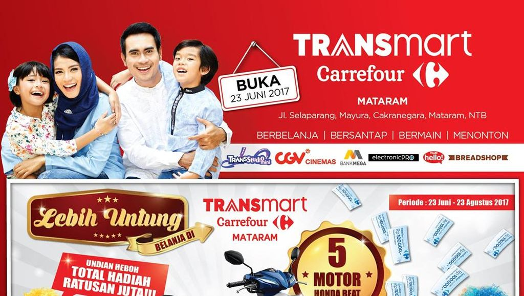 Transmart Carrefour Mataram Dibuka Besok