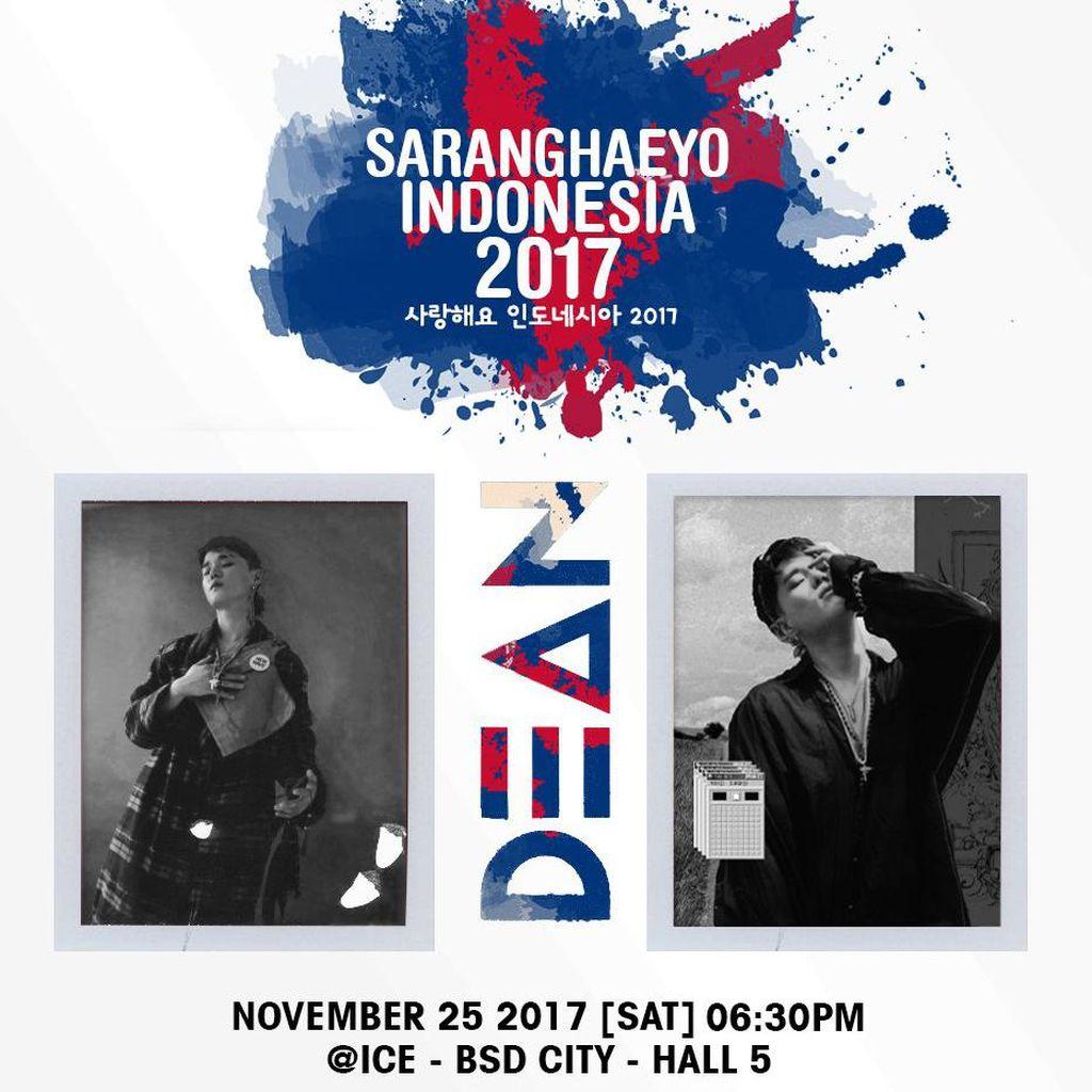 Dean Sambangi Jakarta Lewat Saranghaeyo Indonesia 25 November