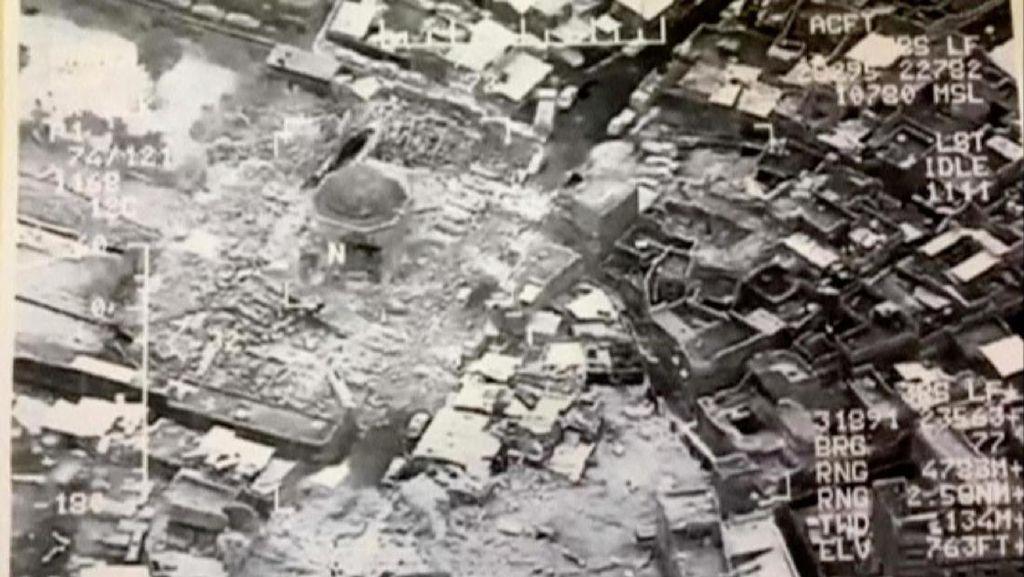 Diledakkan ISIS, Ini Penampakan Masjid Mosul yang Tinggal Puing