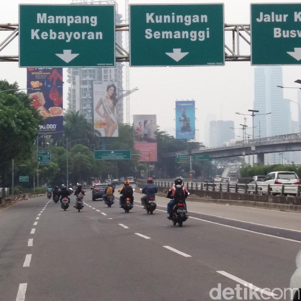 H-2 Lebaran, Jalanan Pancoran-Tendean Bebas Macet