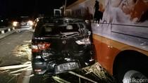 2 Mobil dan 2 Bus Terlibat Kecelakaan di Tol Semarang-Bawen