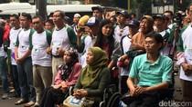 Djarot Tak Hadir, Walkot Jakpus Lepas Mudik Penyandang Disabilitas