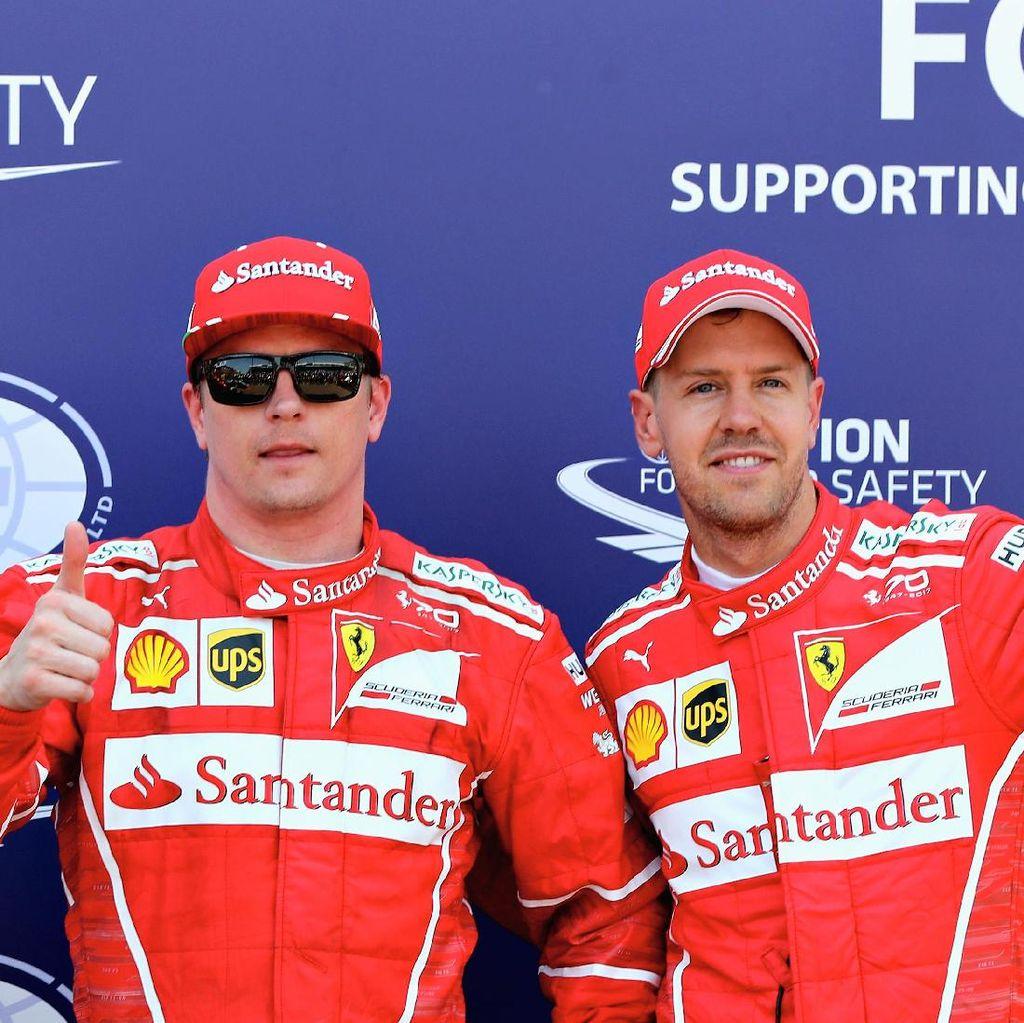 Jika Sudah Tak Punya Peluang Juara, Raikkonen Siap Bantu Vettel