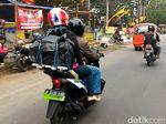 Bus dan Pemudik Bermotor Kuasai Jalan Pantura Jateng