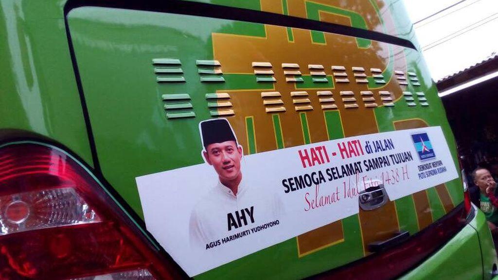 Kader PD Pasang Foto Agus Yudhoyono di Bus-bus Pemudik, untuk Apa?