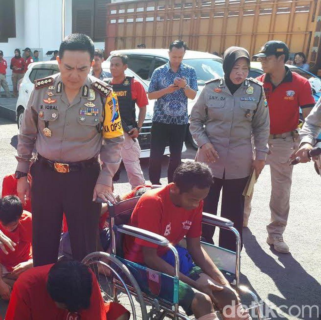 Puluhan Penjahat Jalanan di Surabaya Dibekuk