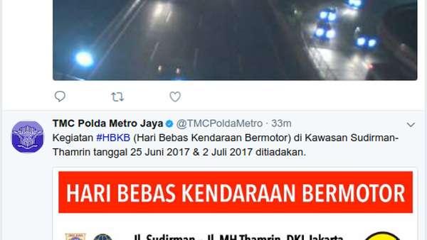 Car Free Day Ditiadakan 25 Juni dan 2 Juli 2017 di Jakarta