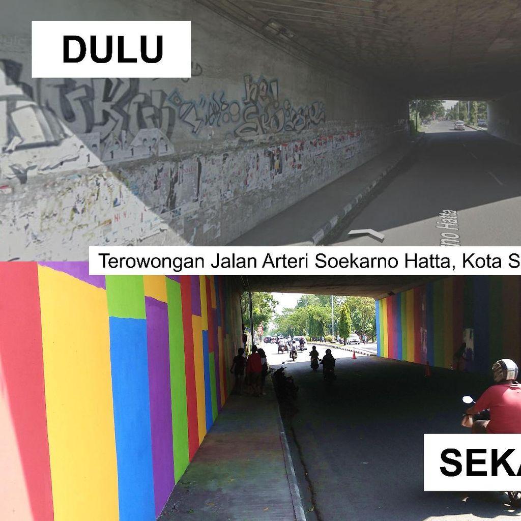 Sambut Pemudik, Terowongan di Kota Semarang Jadi Pelangi