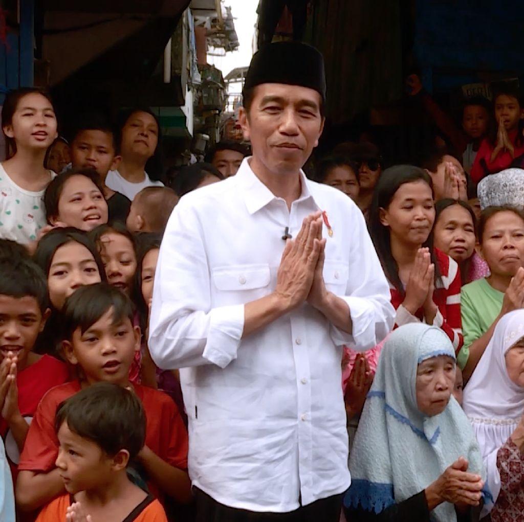 Cerita Dibalik Video Ucapan Lebaran Jokowi Bersama Ibu-ibu