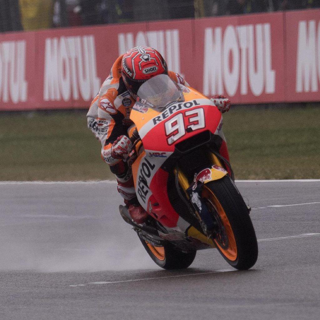 Baik Balapan Basah atau Kering, Marquez Yakin Honda Tampil Bagus