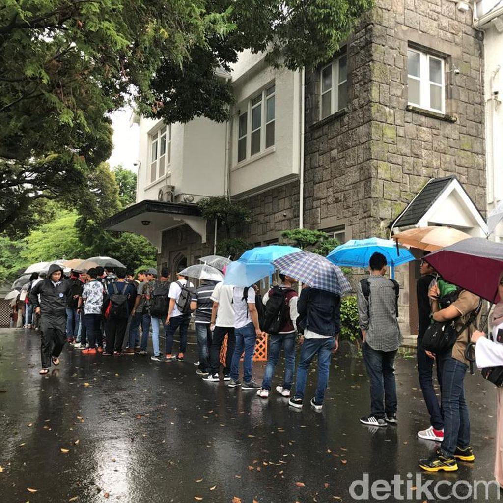 Perayaan Idul Fitri 4.000 WNI di KBRI Tokyo Diwarnai Hujan Deras