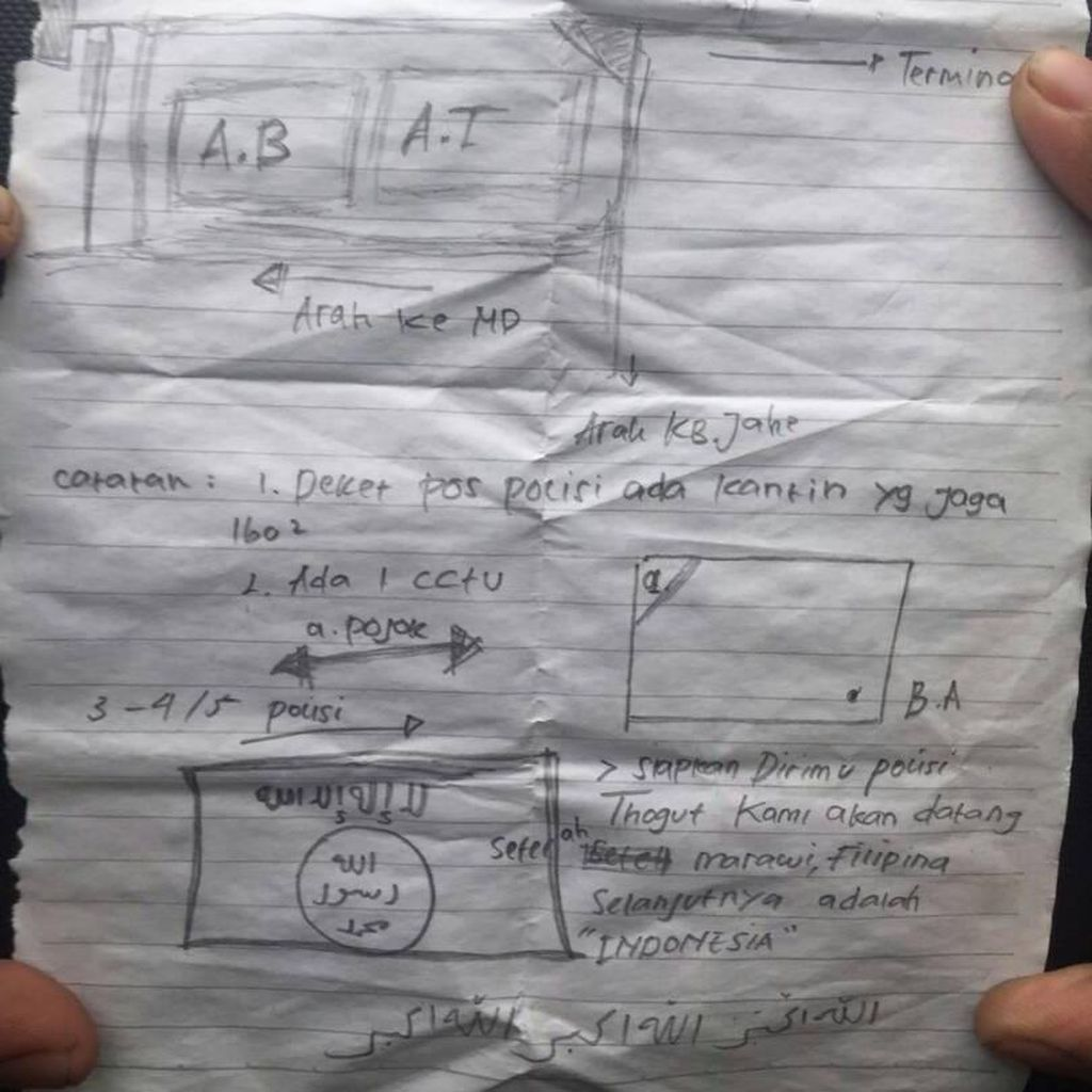 Selebaran Bernada Teror Ditemukan di Wiper Mobil Polisi di Serang