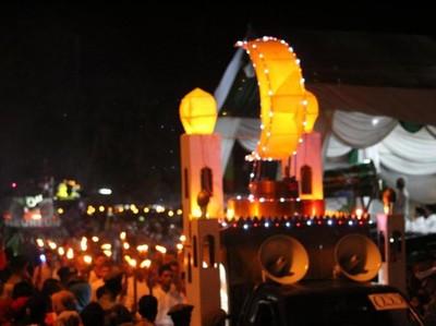 Begini Meriahnya Malam Takbiran di Banda Aceh