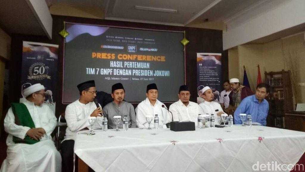 GNPF MUI: Kami Hargai Presiden Jokowi sebagai Simbol Negara