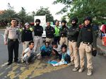 Polisi Ringkus 4 Preman Pemalak Sopir Taksi Online di Ancol