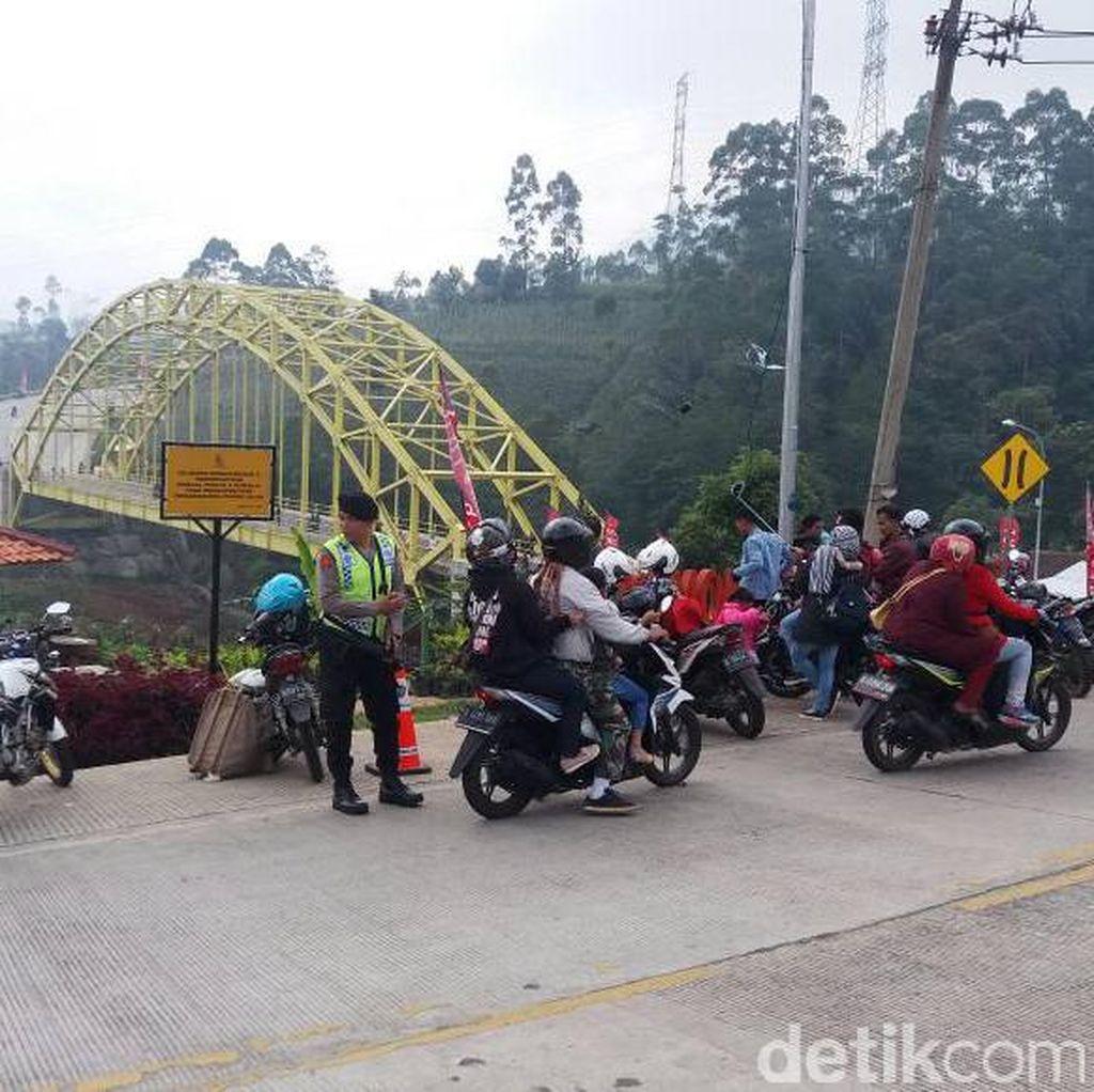 Polsek Ibun Garut Siapkan Ojek dan Taksi Gratis di Lingkar Kamojang