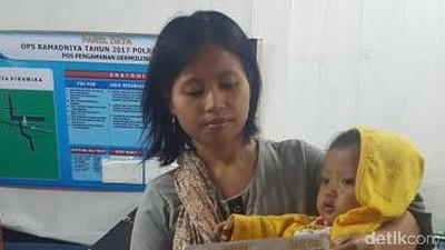 Keterlauan! Pemudik Wanita Bawa Bayi Dipaksa Turun di Jalan