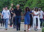 Obama dan Keluarga Santap Siang di Bumi Langit Bantul