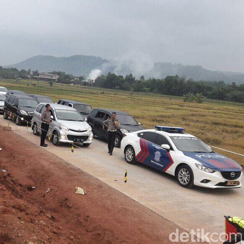 Agar Tidak Ngebut, Arus Balik via Tol Darurat Dikawal Ketat Polisi