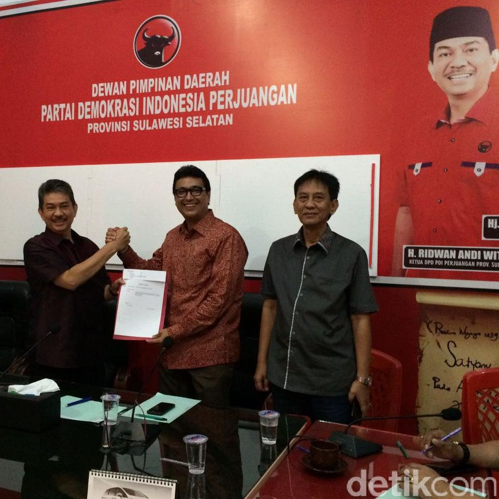 Jubir Wapres Husain Abdullah Daftar Calon Walkot Makassar ke PDIP