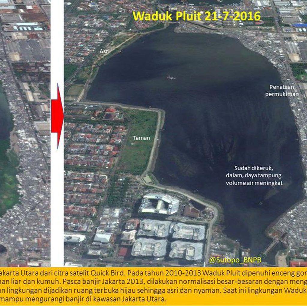 Viral, Foto Perubahan Waduk Pluit dan Ciliwung di Ultah Ahok