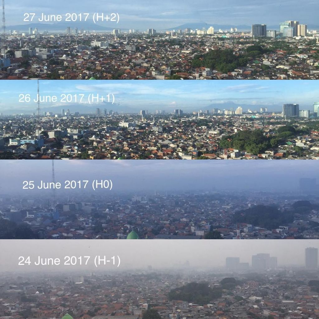 Betapa Bersihnya Langit Jakarta Sesudah Lebaran