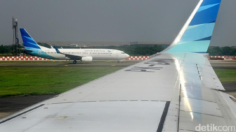 Ilustrasi pesawat Garuda Indonesia (Ari Saputra/detikcom)