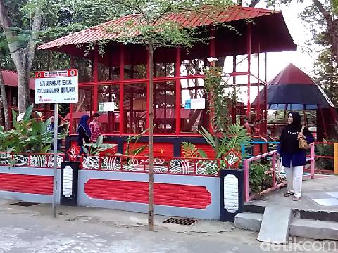 Siamang gigit balita di Taman Rakyat Blitar