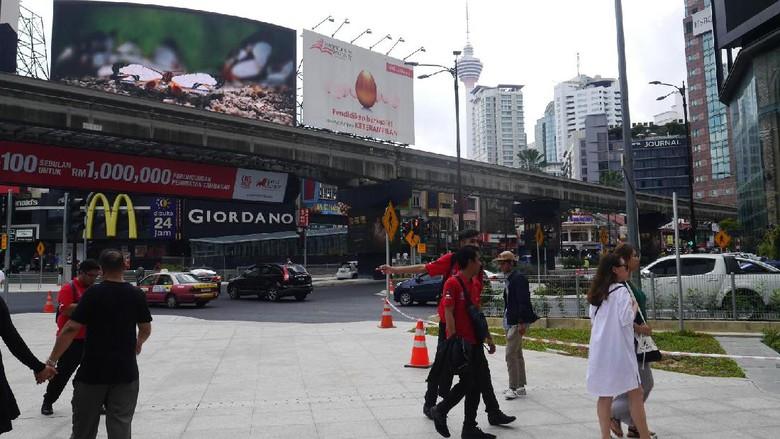 Bukit Bintang, pusat perbelanjaan dan hiburan populer di Kuala Lumpur (Kurnia/detikTravel)